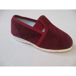 gumičkové papučky bordové jednofarebne