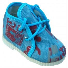 šnurovacie modré papučky skejbordista