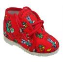 šnurovacie papučky červené  piráti