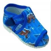 otvorené papučky s klipom modré psici
