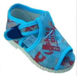 otvorené papučky s klipom modré  skejbordista