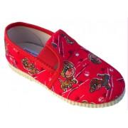 gumičkové papučky červené psíkovia