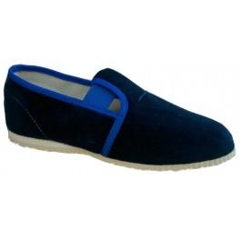 gumičkové papučky modré jednofarebne